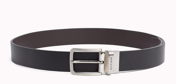 Tommy Hilfiger AM0AM03111-901 Loop Belt Reversible Belt BLACK-BROWN