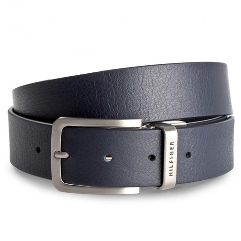 Tommy Hilfiger AM0AM04138-085 Loop Belt Reversible BLUE-BROWN Belt