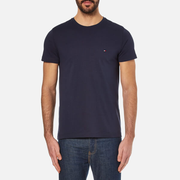 Tommy Hilfiger 0867896625-416 Core Stretch Slim Cotton SS T-Shirt BLU Navy