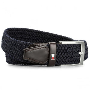 Tommy Hilfiger AM0AM02801-422 New Adan Belt Cintura Elastic BLU navy