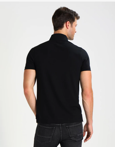 Tommy Hilfiger MW0MW04975-032 Core Tommy Slim Pique' SS Polo BLACK
