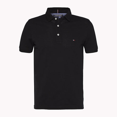 Tommy Hilfiger MW0MW04975-403 Core Tommy Slim Pique' SS Polo BLU Navy