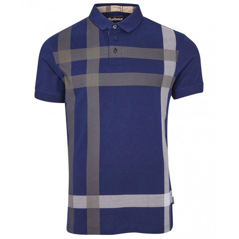 Barbour MML1117-BL46 Blame Tartan Polo SS Regal Blue