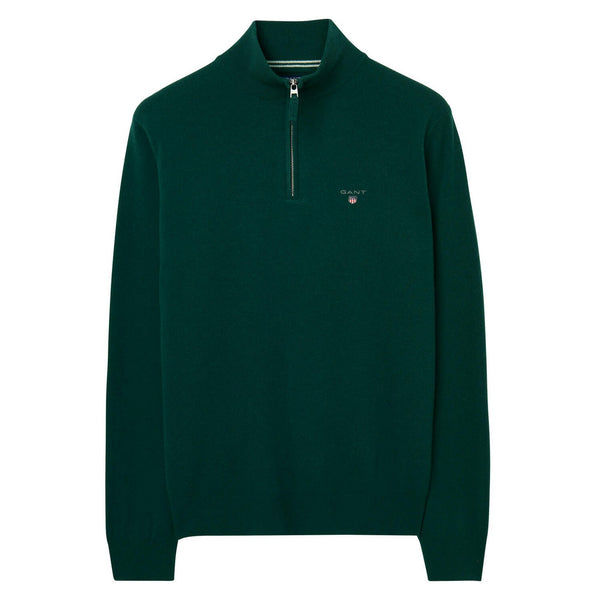GANT 86213-374 Superfine Lambswool Half Zip Pullover Dark Green