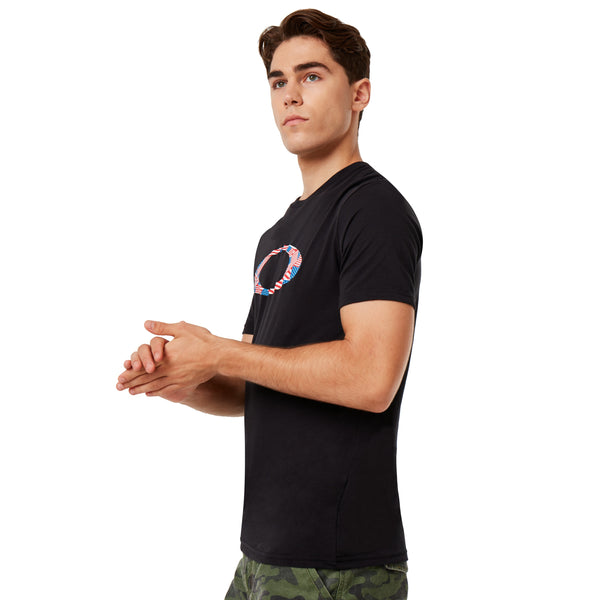 Oakley 457886-02E Ellipse USA Pattern T-Shirt BLACK