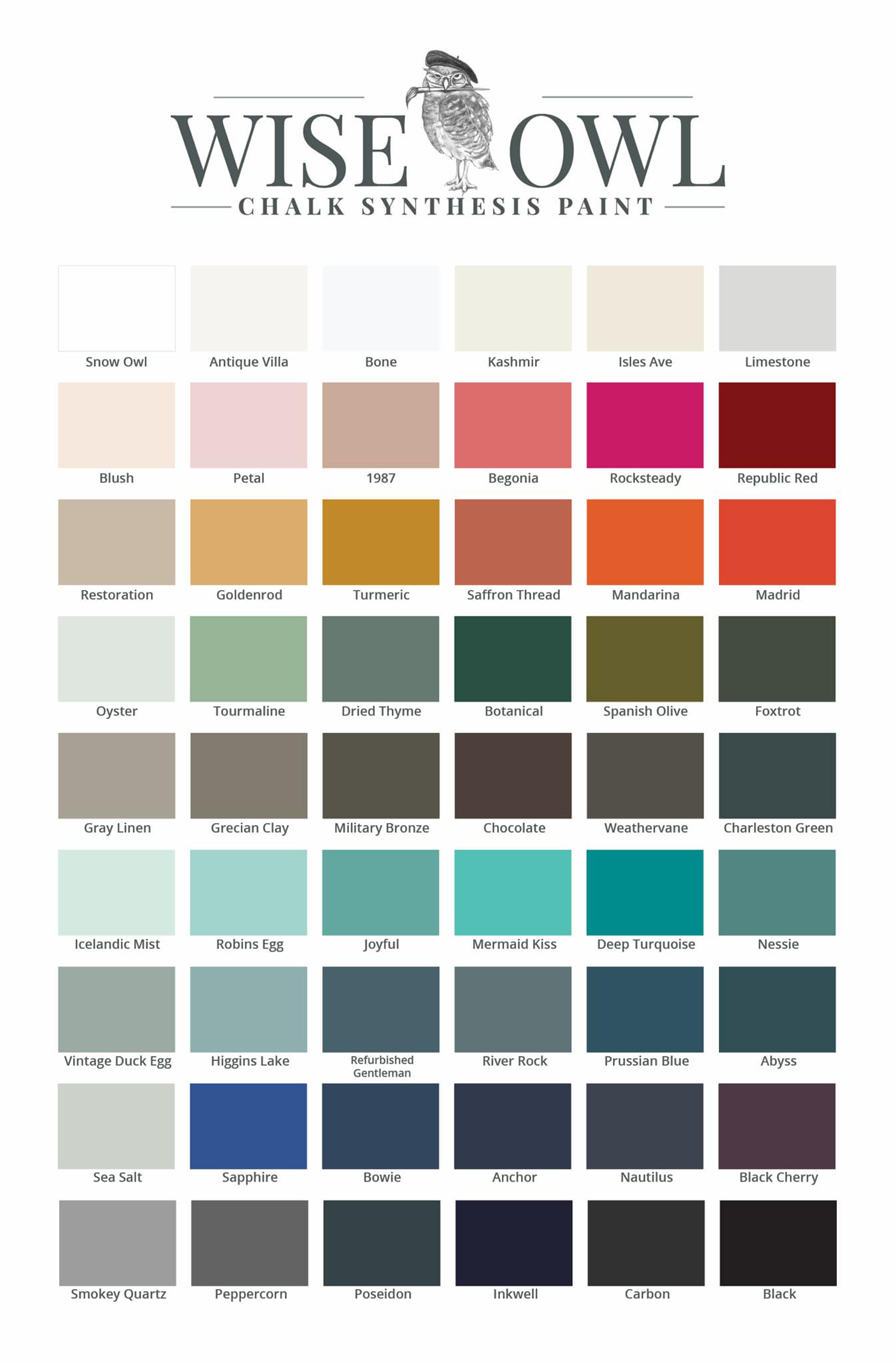 Chalk Synthesis color chart. Available at zacs4you.com.