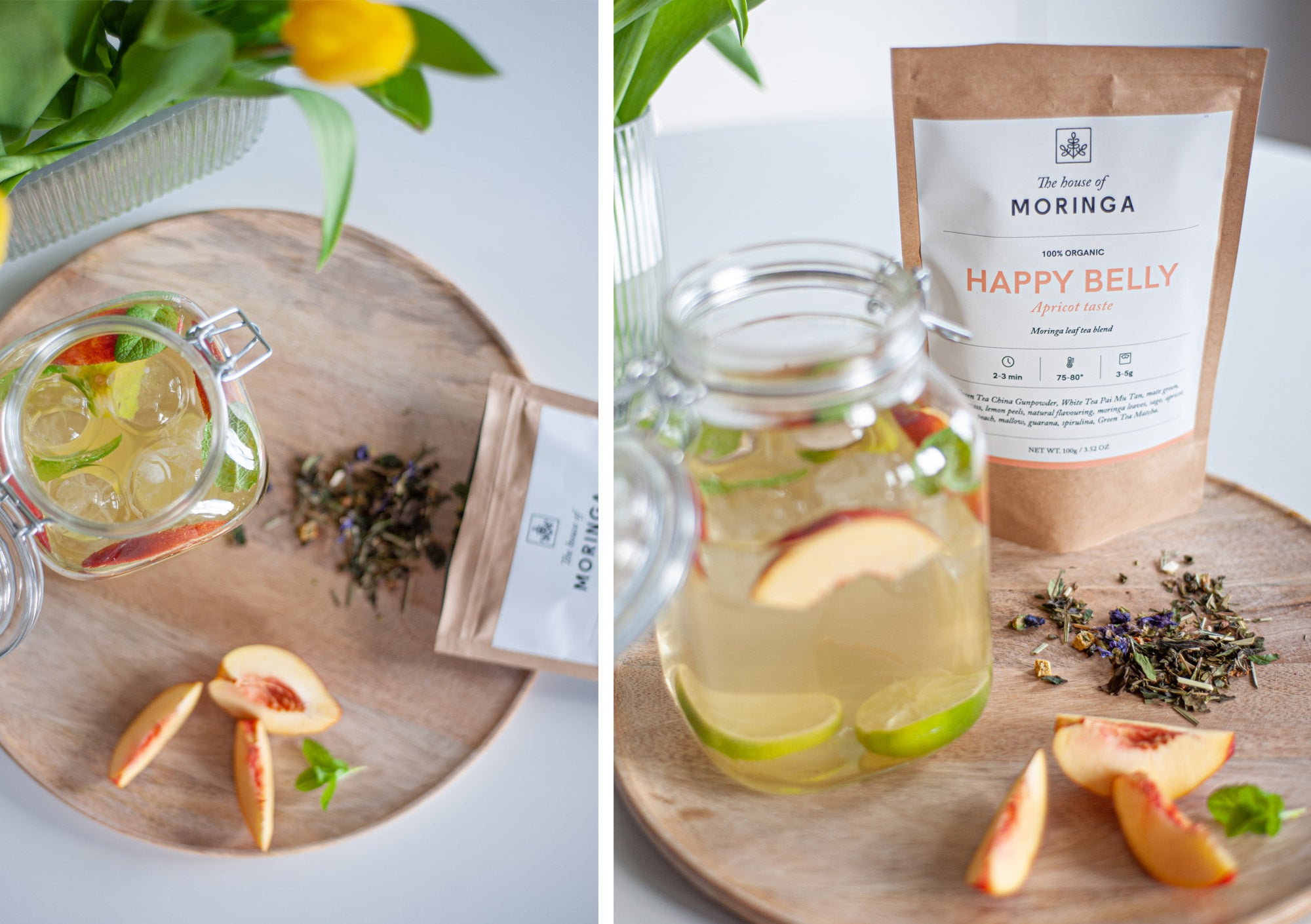 We have tea in summer! Enjoy the benefits of our Happy Belly tea and the freshness of a delicious ice tea while soaking up some spring or summer sun. We believe this can, and will, produce some smiles.
