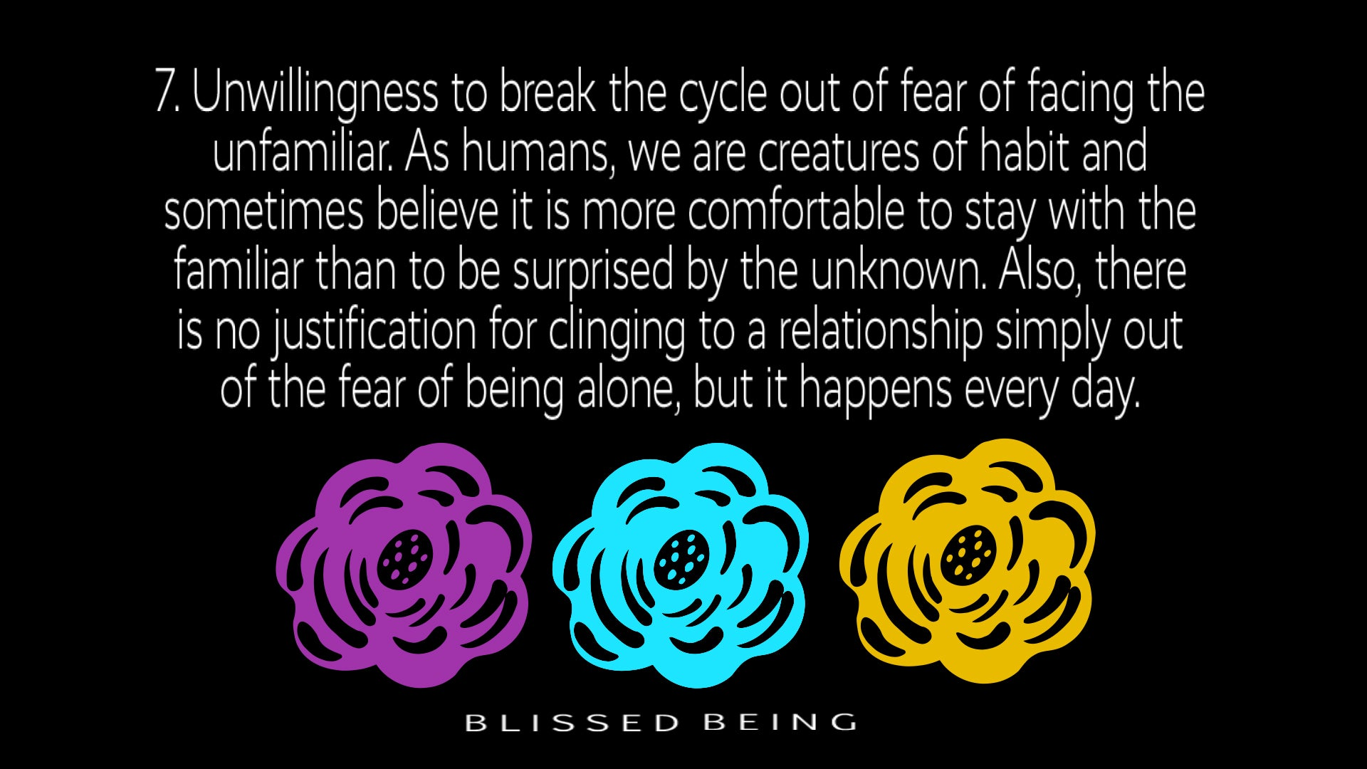 Unwilling to break the cycle