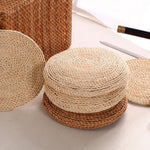 Handmade Natural Straw Tatami Cushion 12in., 16in., 18in., 20in., 24in.