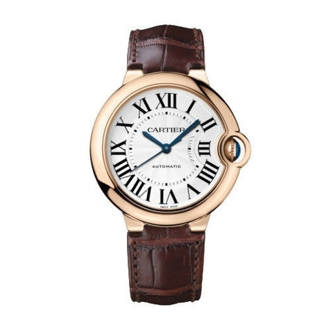 Ballon Bleu 36.6mm Roman Numerals with Brown Leather