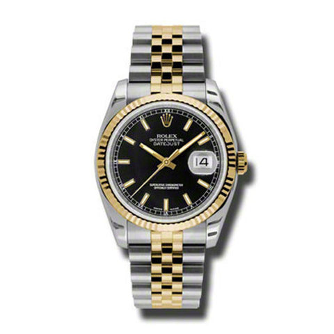Datejust 36mm Stainless Steel and Yellow Gold Fluted