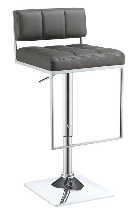 G100195 Contemporary Grey Adjustable Bar Stool image