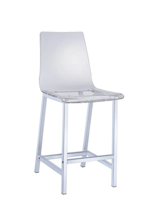 Everyday Contemporary Clear and Chrome Bar Stool image