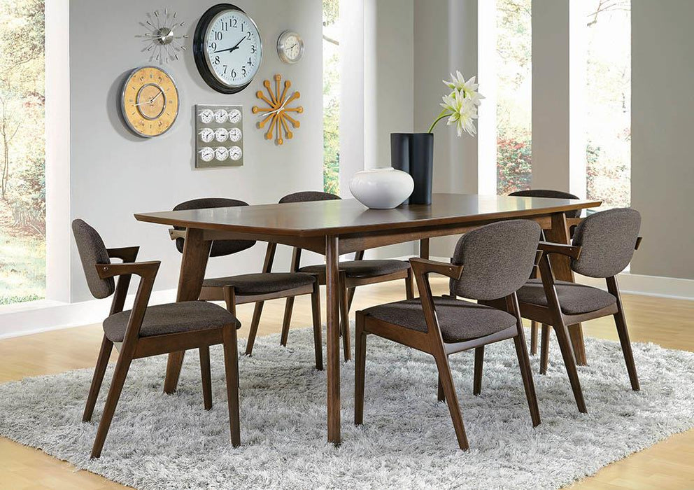 Malone Mid-Century Modern Dark Walnut Dining Table image
