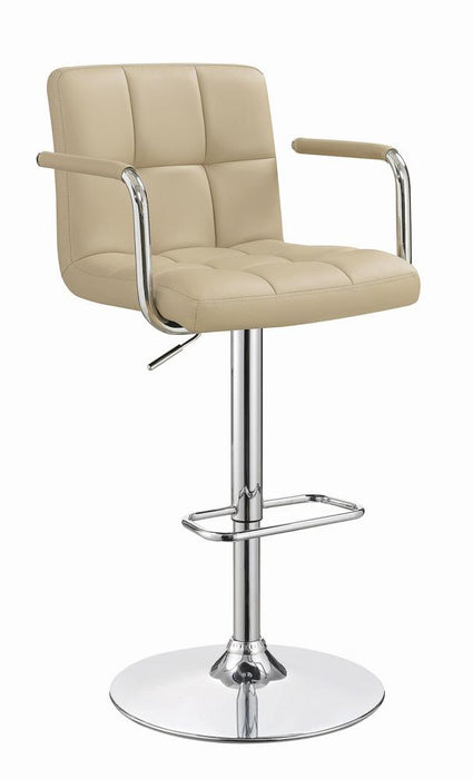 G121106 Contemporary Beige Adjustable Bar Stool image