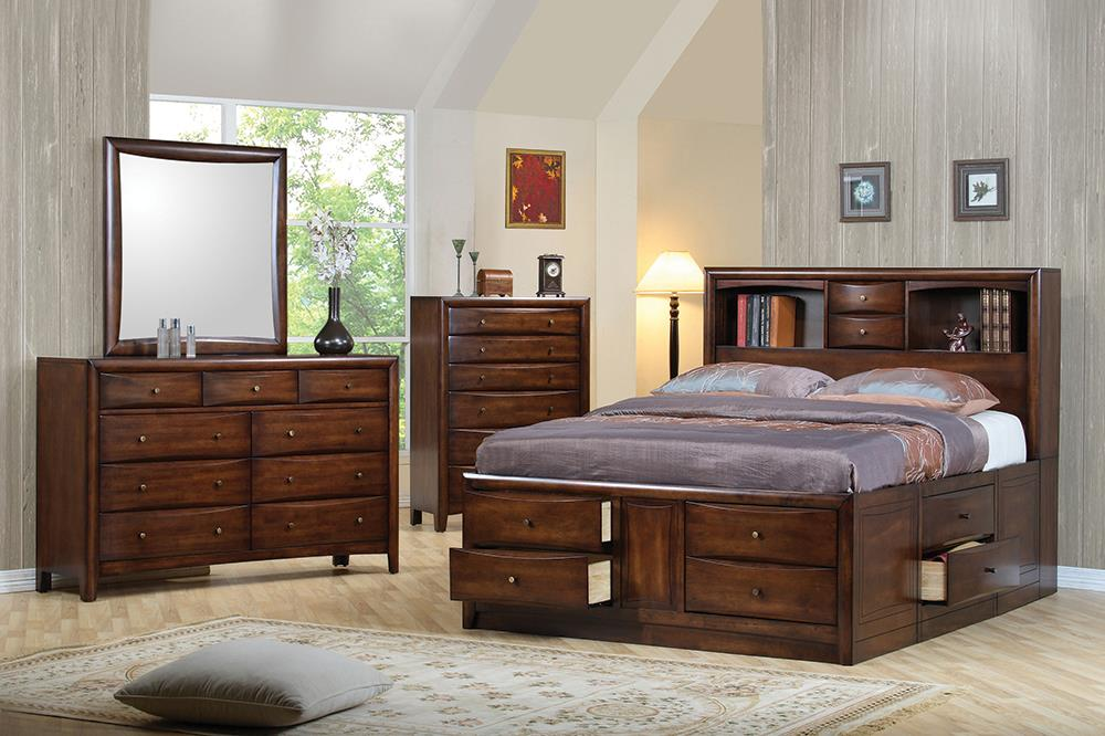 Hillary and Scottsdale Cappuccino King Four-Piece Bedroom Set image