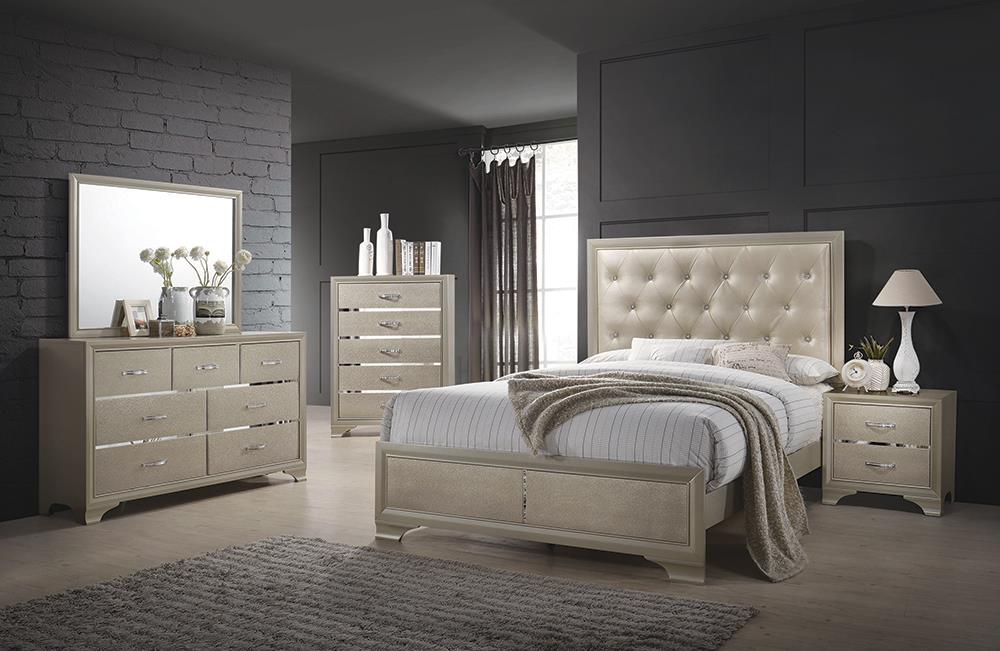 Beaumont Transitional Champagne Eastern King Bed image