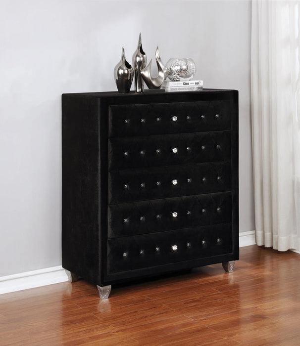 Deanna Contemporary Black and Metallic Chest image