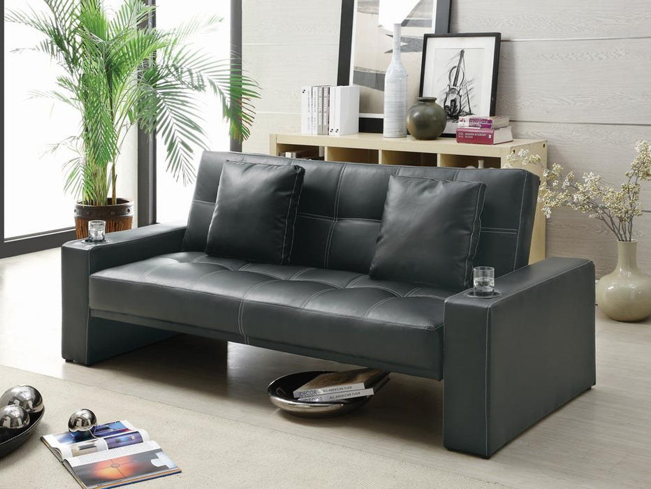 G300125 Contemporary Black Sofa Bed image