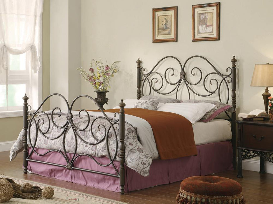 London Traditional Dark Bronze King Metal Bed image