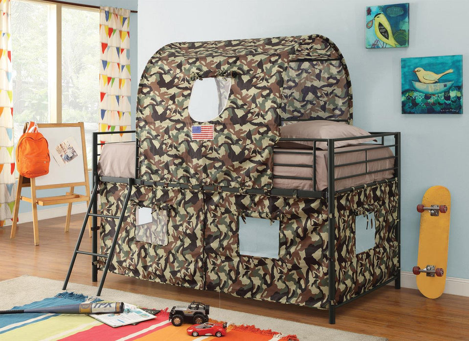 Camouflage Tent Bunk Bed image