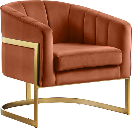 Carter Cognac Velvet Accent Chair image