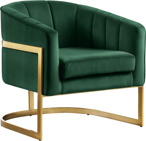 Carter Green Velvet Accent Chair image