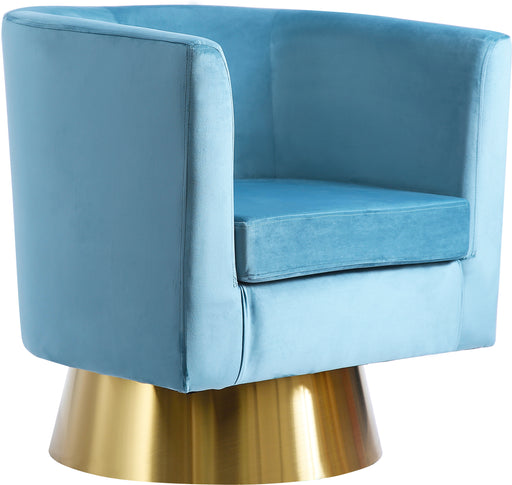 Bellagio Aqua Velvet Accent Chair image