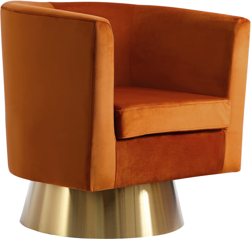 Bellagio Cognac Velvet Accent Chair image