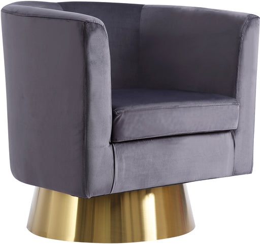 Bellagio Grey Velvet Accent Chair image