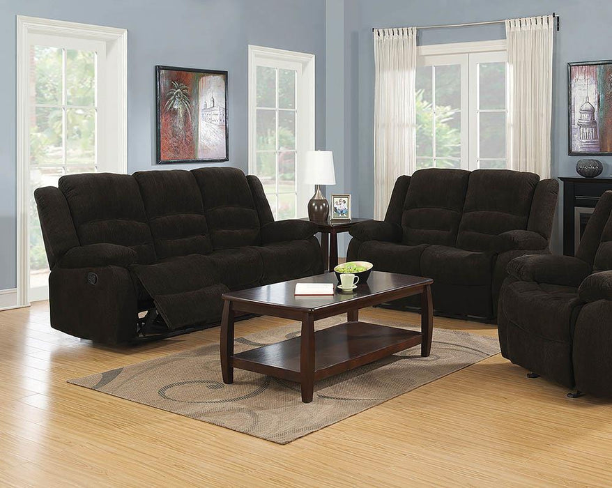 Gordon Chocolate Reclining Two-Piece Living Room Collection image