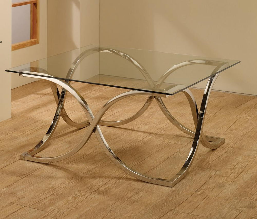 G701918 Contemporary Nickel Coffee Table image