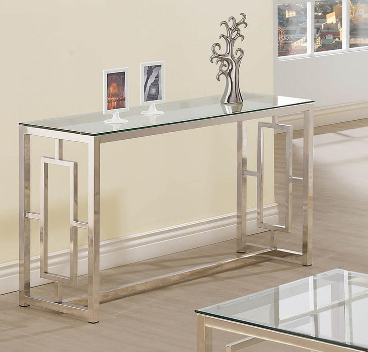 G703738 Occasional Contemporary Nickel Sofa Table image
