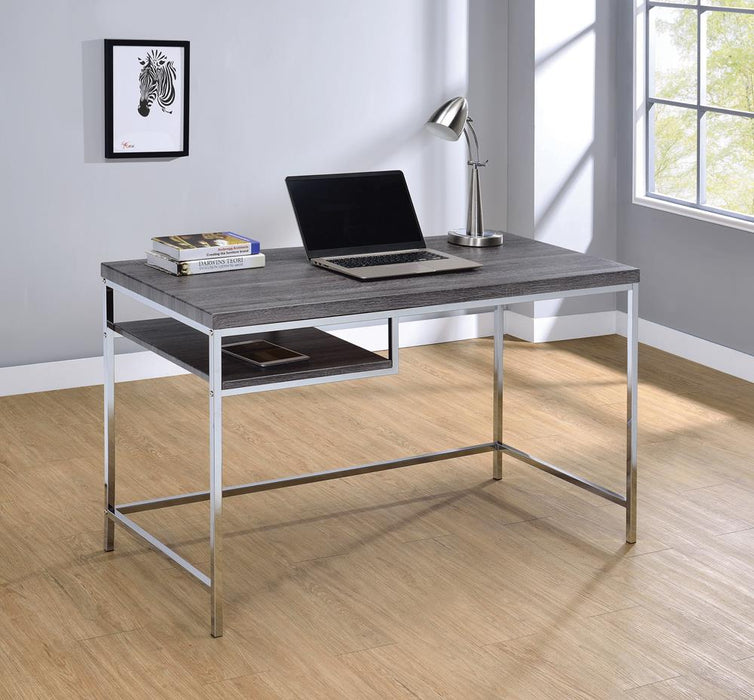 G801271 Contemporary Weathered Grey Writing Desk image
