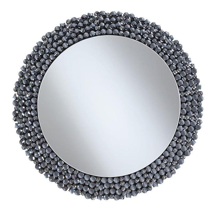G960077 Contemporary Silver Wall Mirror image