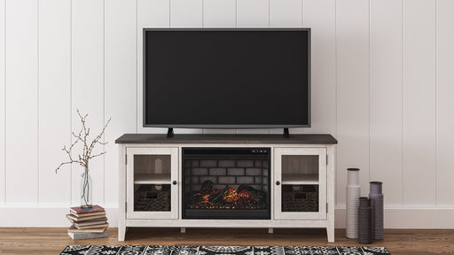 Dorrinson Signature Design by Ashley 60 TV Stand with Electric Fireplace image