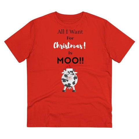 All I want for Christmas is moo funny vegan t-shirt