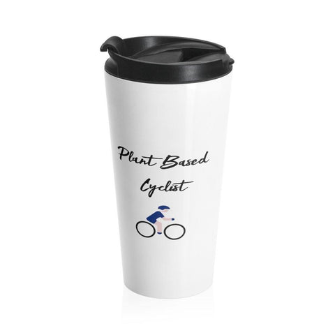 Plant Based Cyclist Stainless Steel Travel Mug - Built With Plants Store