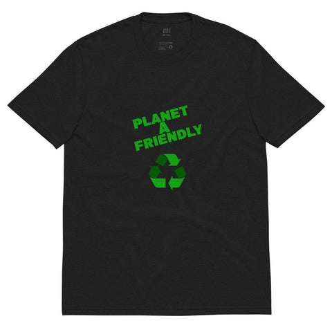 Planet A Friendly Unisex recycled t-shirt - Built With Plants Store
