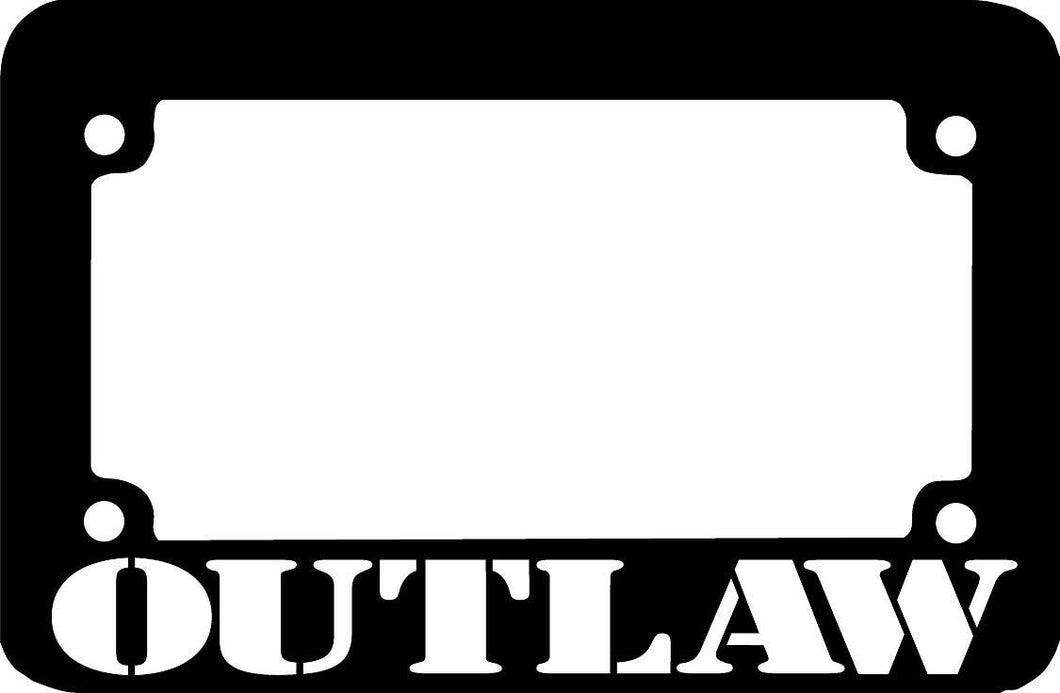OUTLAW  Motorcycle License Plate Frame