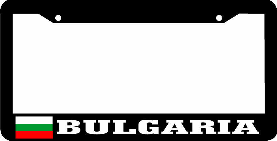 BULGARIA Black frame flag License Plate Frame