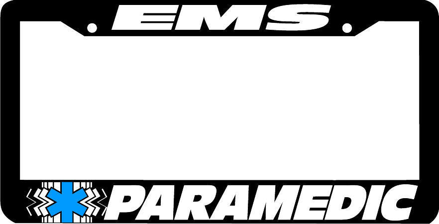 EMS PARAMEDIC STAR >EMT Emergency Medical Services License Plate Frame STAR LIFE