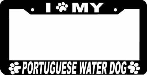 PORTUGUESE WATER DOG paw print License Plate Frame