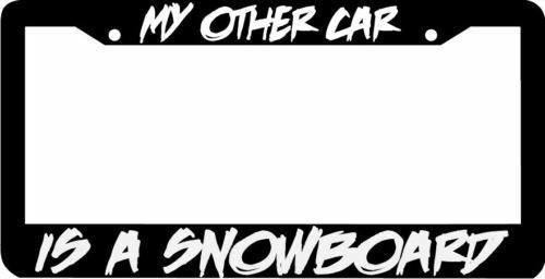 My other car is a SNOWBOARD License Plate Frame