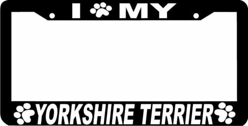 YORKSHIRE TERRIER DOG PAW PRINT License Plate Frame