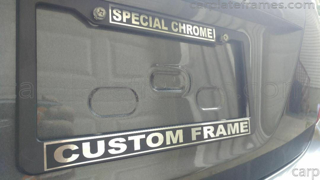 PLASTIC - SPECIAL CHROME Make Your Own CUSTOM WORDING words License Plate Frame