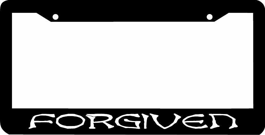 FORGIVEN CHRISTIAN  License Plate Frame
