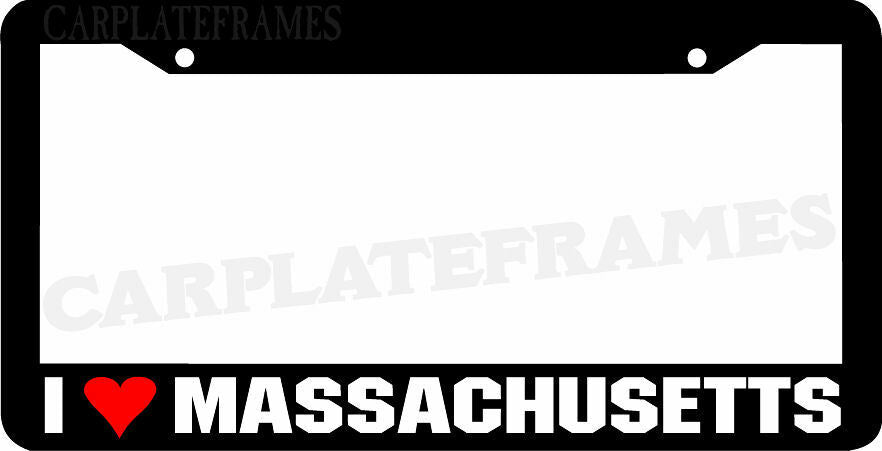 I LOVE Massachusetts License Plate Frame