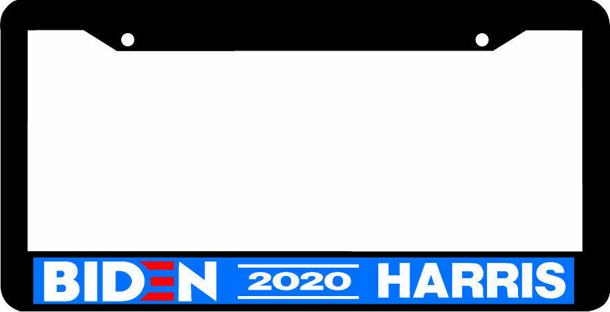 BIDEN HARRIS 2020 for president BLACK PLASTIC License Plate Frame