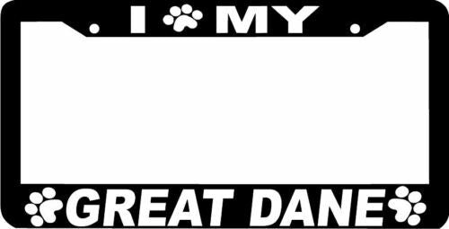 GREAT DANE PAW PRINT DOG License Plate Frame